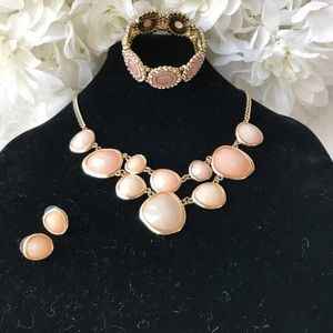 Jewelry - Statement Necklace earings and bracelet set